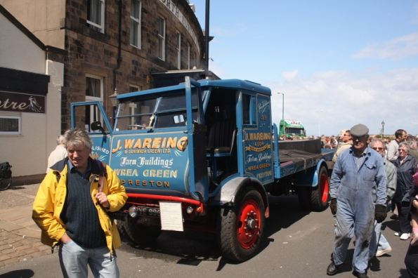 Steam powered lorry