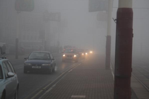 Sea Fog on Blackpool Prom.