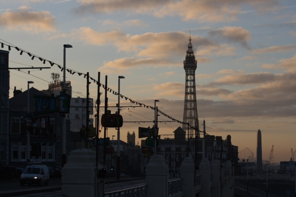 Sun Riseover blackpool Tower