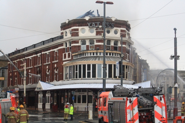 Fire at Yates Wine Bar on Talbot Square.