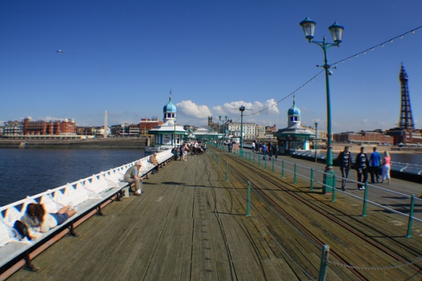 Looking back down the pier
