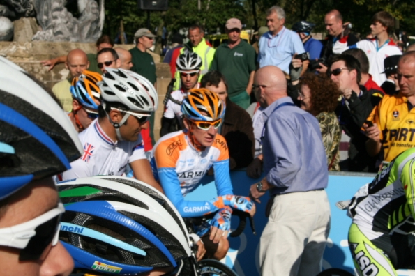 Bradley Wiggins just before the start.
